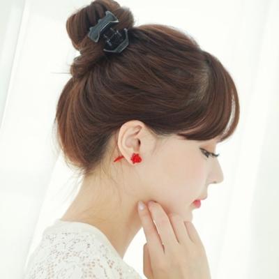 梨花HaNA韓國立體鏗鏘玫瑰冷冽雙面耳環