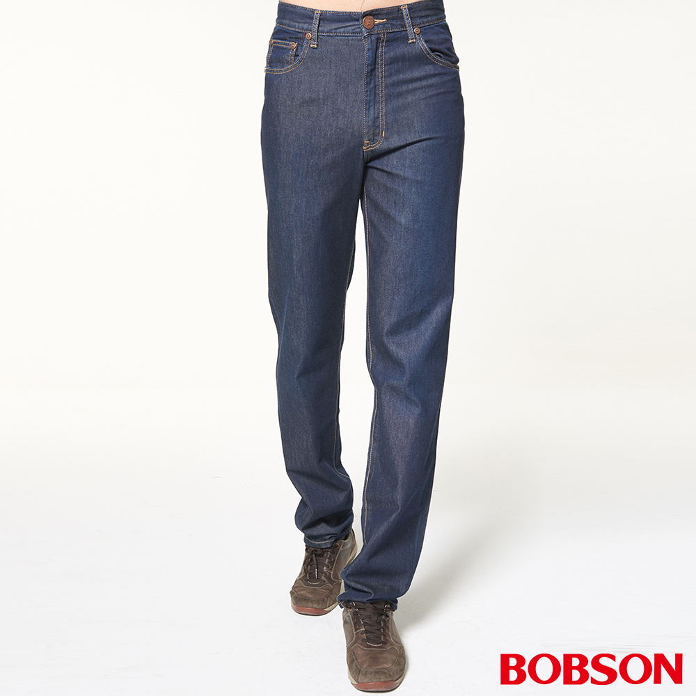 BOBSON 男款高腰輕薄涼爽直筒褲