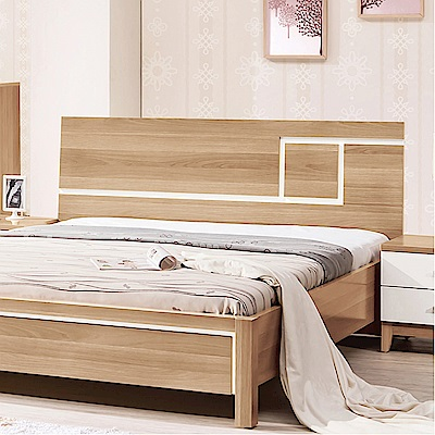 品家居 費爾6尺木紋雙色雙人加大床頭片-193.9x9.1x94.5cm免組
