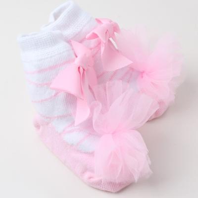 baby童衣 純棉寶寶立體花邊防滑襪 F1041