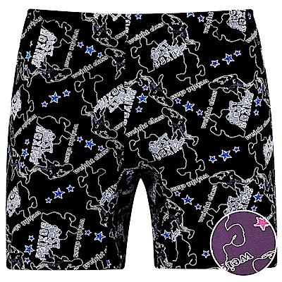 DADADO-重力訓練 M-3L 印花平口內褲(紫)
