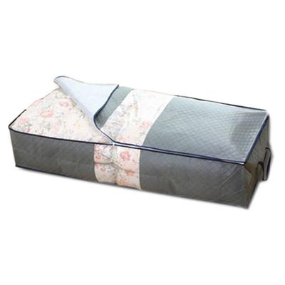 iSFun 竹炭纖維 床下透視收納套 灰100x40x15cm
