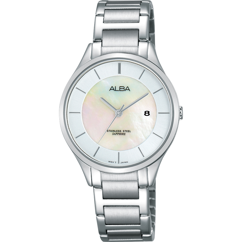 ALBA Fashion Lady 時尚俏甜心女錶(AH7L35X1)-珍珠貝/30mm