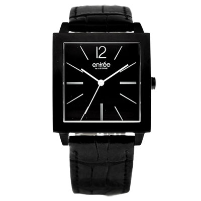 LICORNE entrée 經典時尚都會腕錶-IP黑/32mm