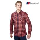 【Berghaus貝豪斯】男款銀離子抗菌除臭抗UV長袖襯衫S05M47火山紅