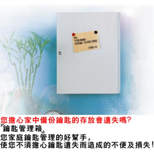 【NICK】乳白色靜電烤漆鋼製鑰匙管理箱_40支