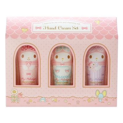 Sanrio 美樂蒂 3入迷你香氛保濕護手霜禮盒組