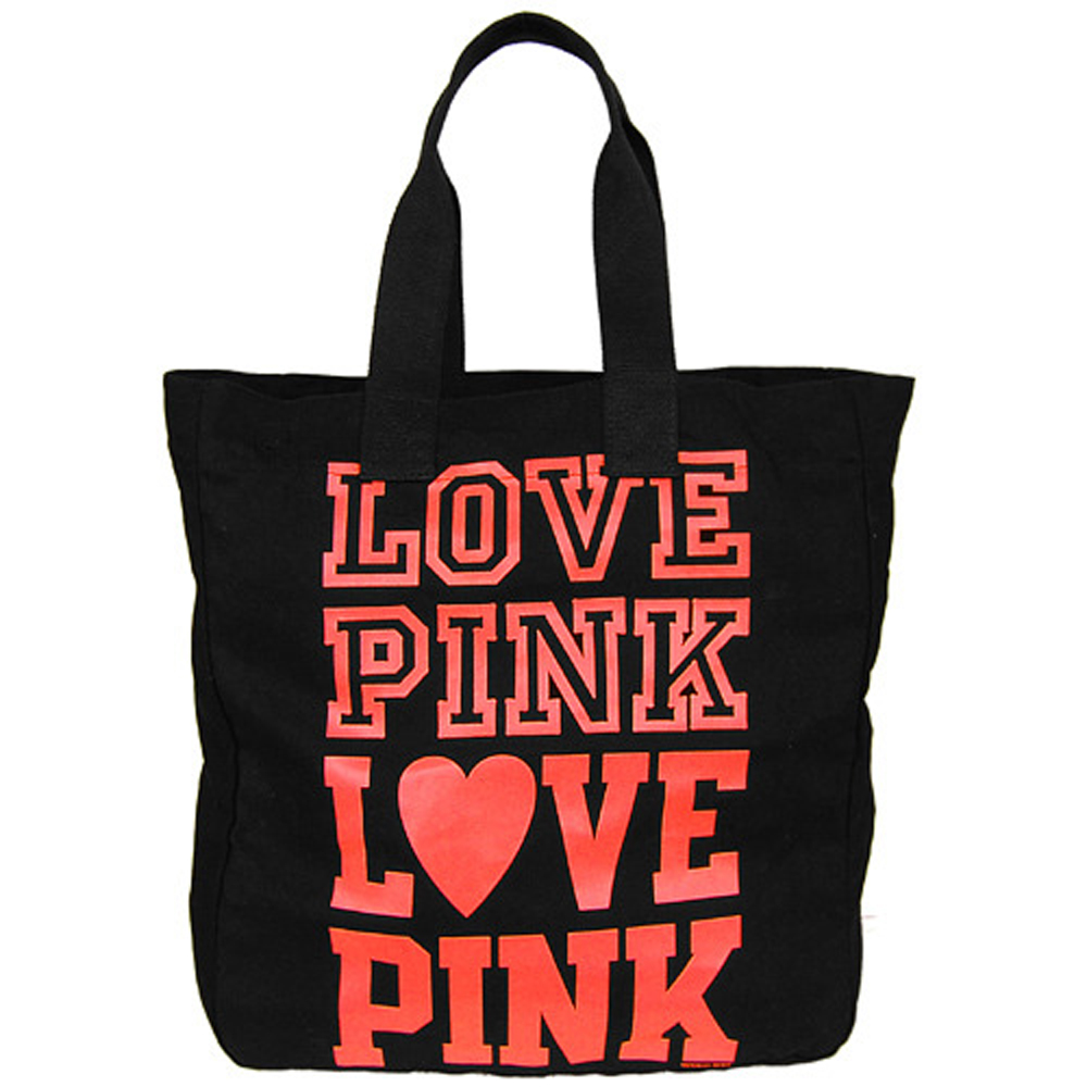 VICTORIA'S SECRET LOVE PINK 大購物包(黑色)