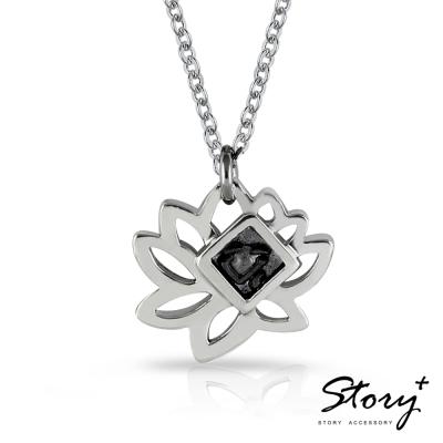 STORY故事銀飾-{心心相連} 鉛字吉言純銀項鍊