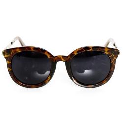 梨花HaNA 大牌風尚極簡細框超顯小臉太陽眼鏡-個性豹紋