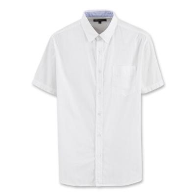 Hang Ten - 男裝 - 都會風基本短袖襯衫 - 白