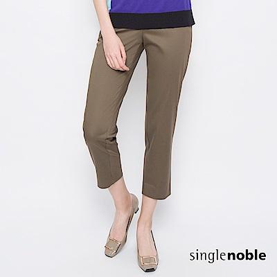 獨身貴族 城市女士經典修身八分西裝褲(2色)