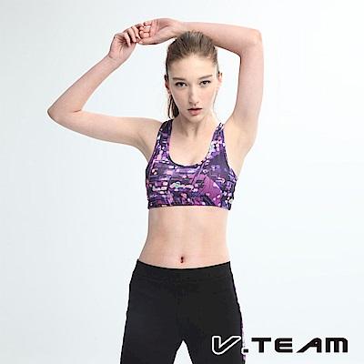 VTEAM 韻律短背心-紫