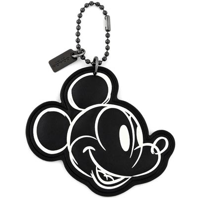 COACH Disney黑色MICKEY造型吊飾