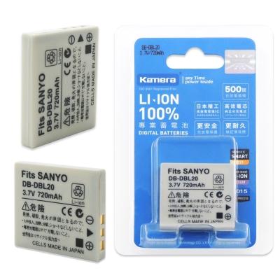 Kamera 佳美能 For SANYO DB-L20 高容量鋰電池