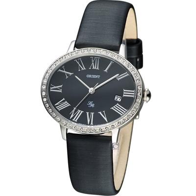 ORIENT 永恆記憶女用時尚腕錶-黑/36x30mm