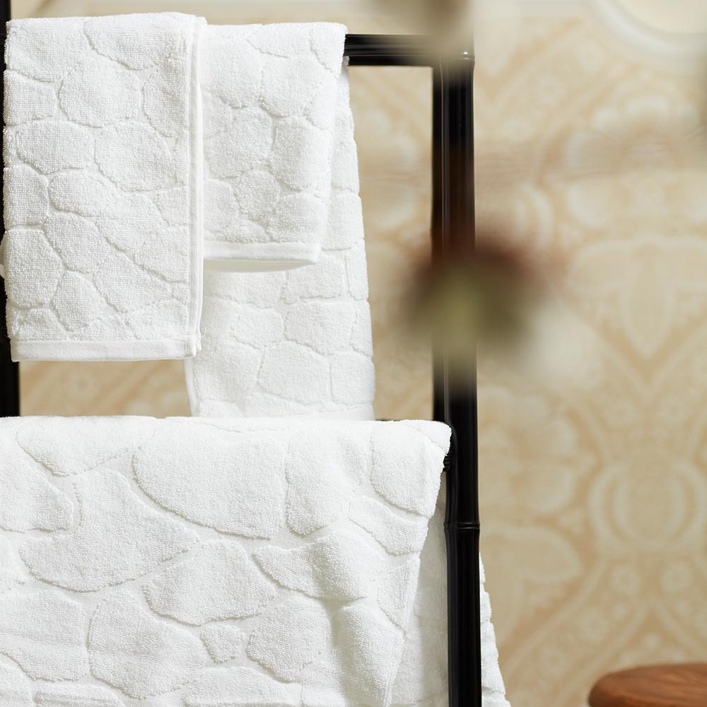 [毛浴巾經典組合]法國薇瓦瑞-GALEA-純棉淨白三件組