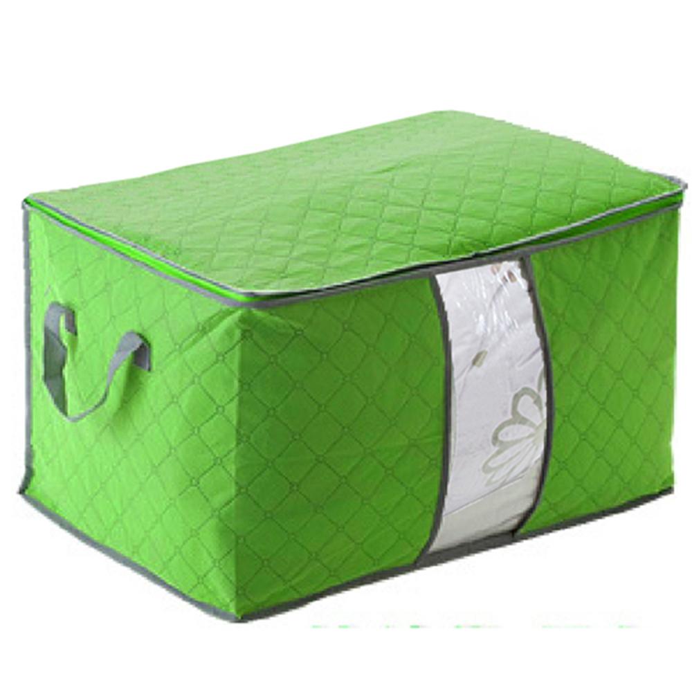月陽60X40竹炭彩色加高型透明視窗衣物收納袋整理箱(C130L)