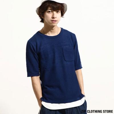 高人氣短袖針織衫 ZIP日本男裝