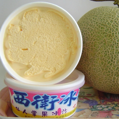【澎湖西衛冰淇淋】哈蜜瓜冰淇淋+仙人掌冰沙(48個/箱)