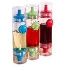 JANOSENO 按壓式雙頭醬油調味料噴瓶/控油小油壺-3入
