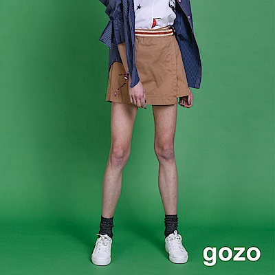 gozo 偽裝片裙運動風腰帶短褲(三色)