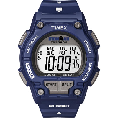 Timex Ironman Bright 夏日亮彩運動腕錶-運動藍/43mm