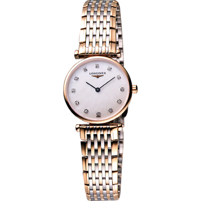 LONGINES 嘉嵐系列璀燦真鑽腕錶-24mm