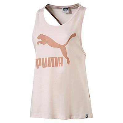 PUMA-女性流行系列經典Logo休閒背心-珍珠色-歐規