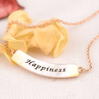 微醺禮物 鍍K金 彎彎貝殼幸福 Happiness 項鍊
