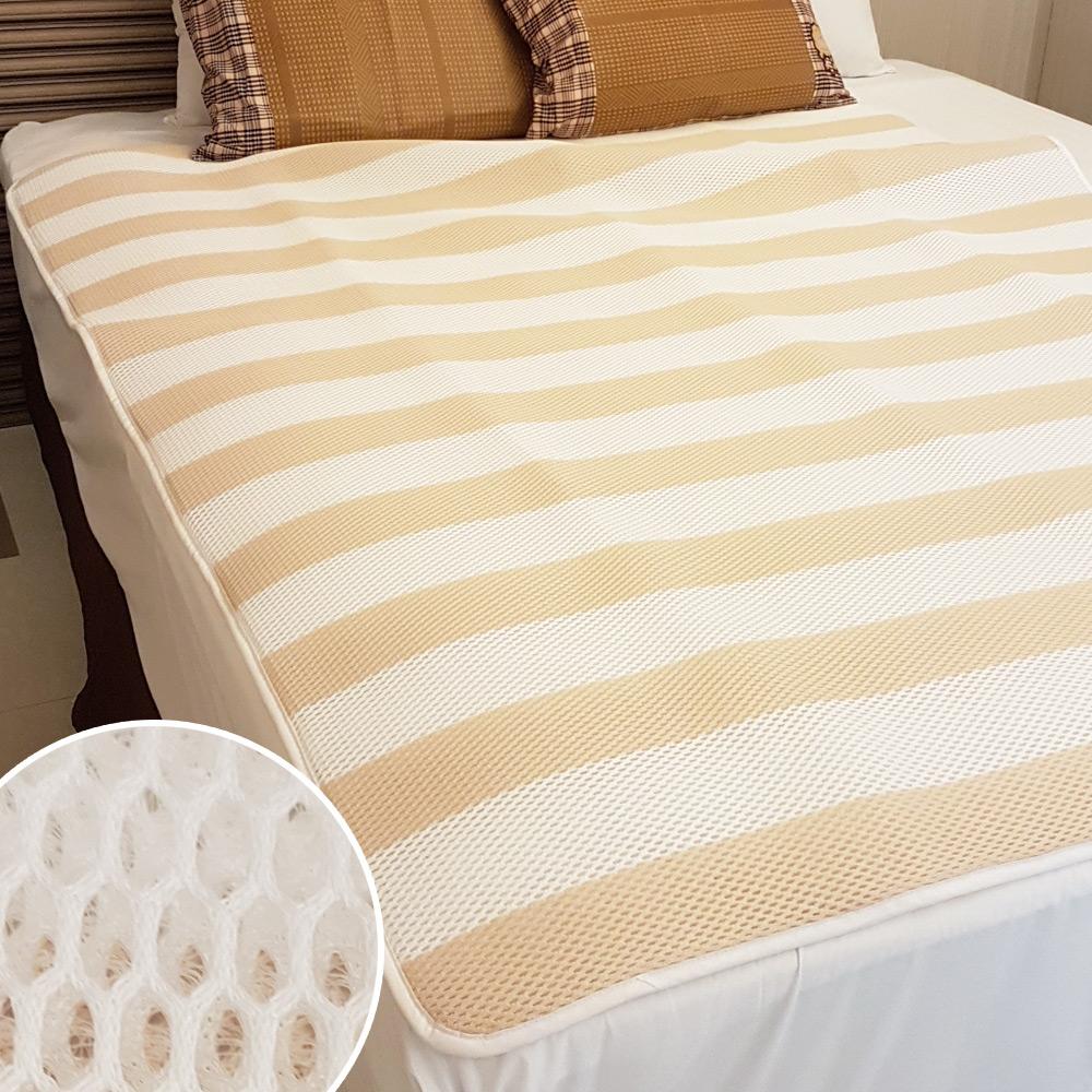 凱蕾絲帝 3D挑高透氣 可水洗 高支撐循環散熱床墊/涼墊(米) 單人加大3.5尺
