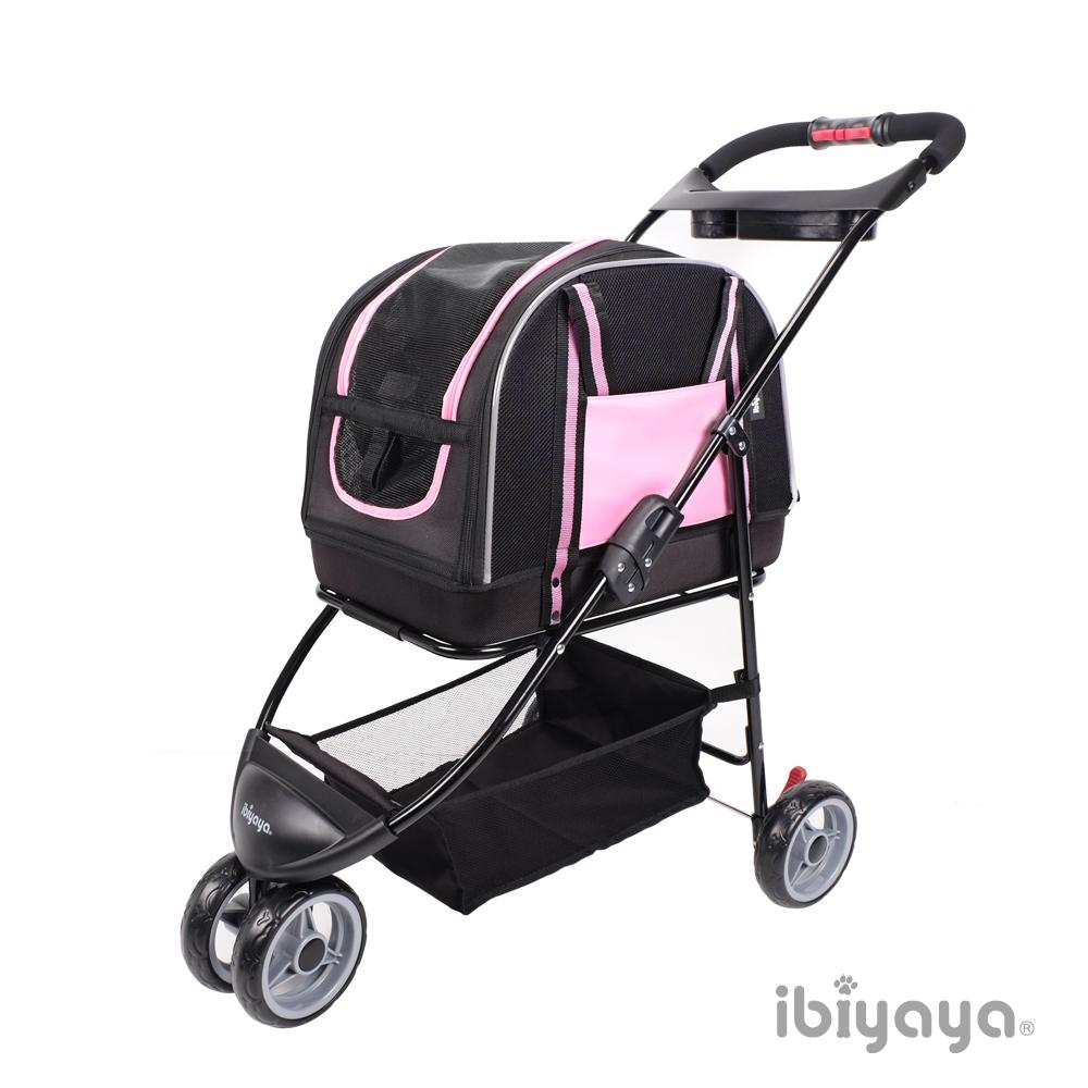 IBIYAYA依比呀呀-雙重奏分離式寵物提包推車-粉 (FS1511-P)