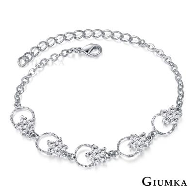 GIUMKA 浪漫花圈 手鍊-銀色