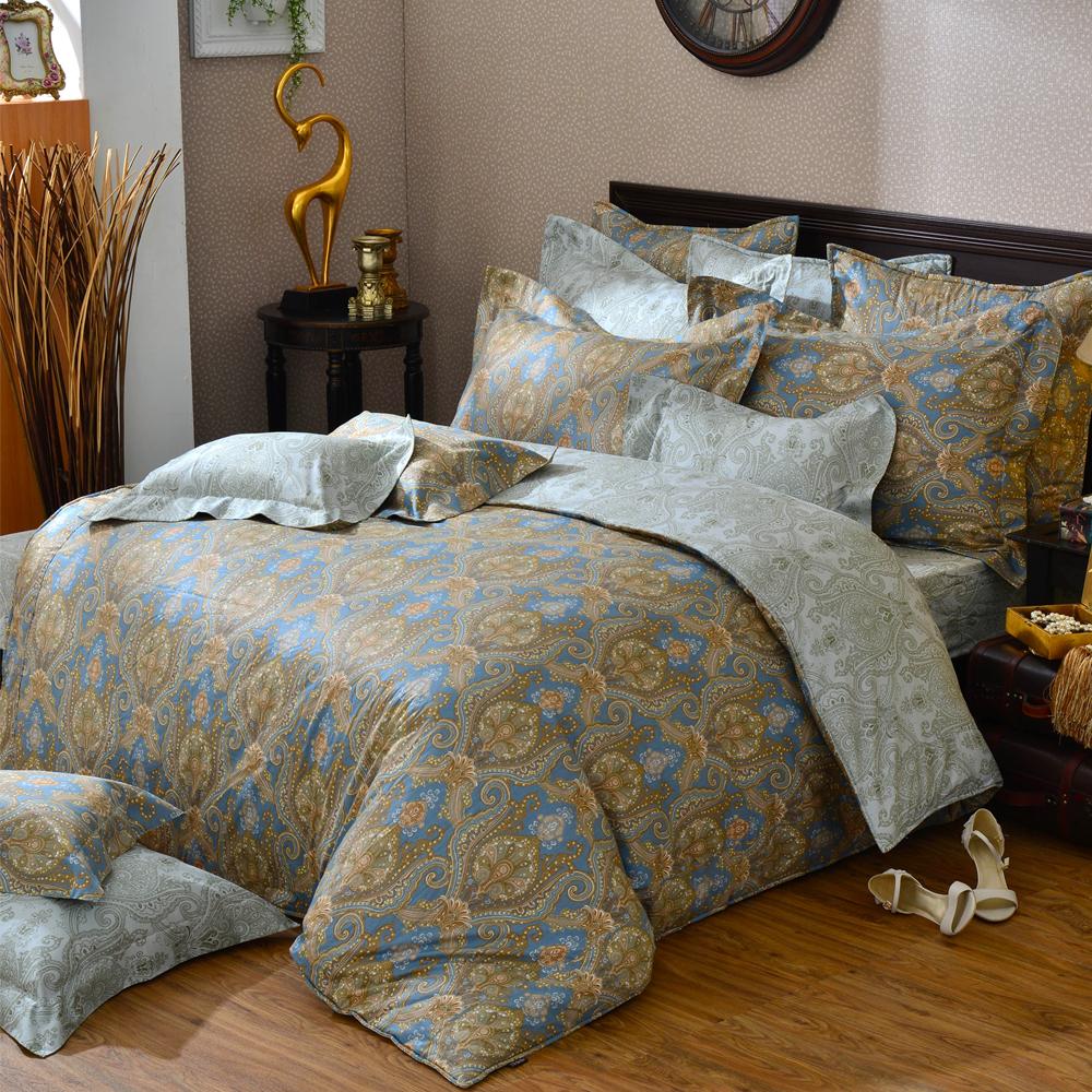 義大利La Belle 蘿蔓序語 雙人純棉床包枕套組