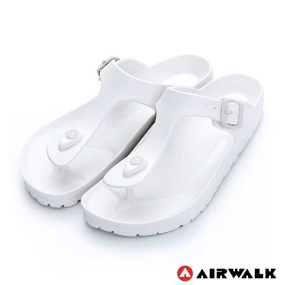美國AIRWALK百搭羅馬夾腳拖鞋-白色