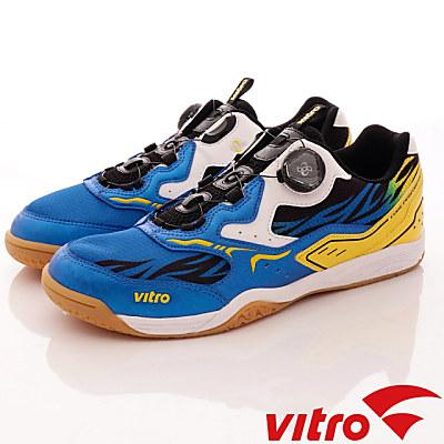 Vitro韓國專業運動品牌-ARCANEⅡ頂級專業桌球鞋-藍黑黃(男)