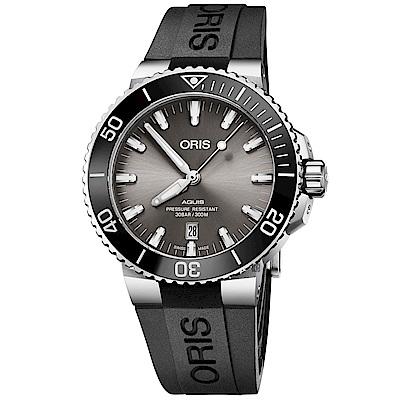 Oris豪利時 Aquis 時間之海潛水300米日期機械錶-43.5mm