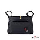 satana - MAMA 兩用嬰兒推車吊掛袋/斜背包 - 黑色