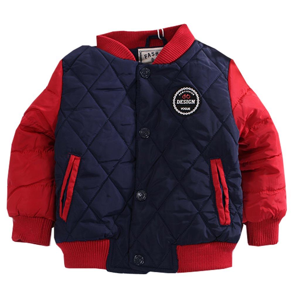 魔法Baby 鋪棉防風外套 紅藍 k60586