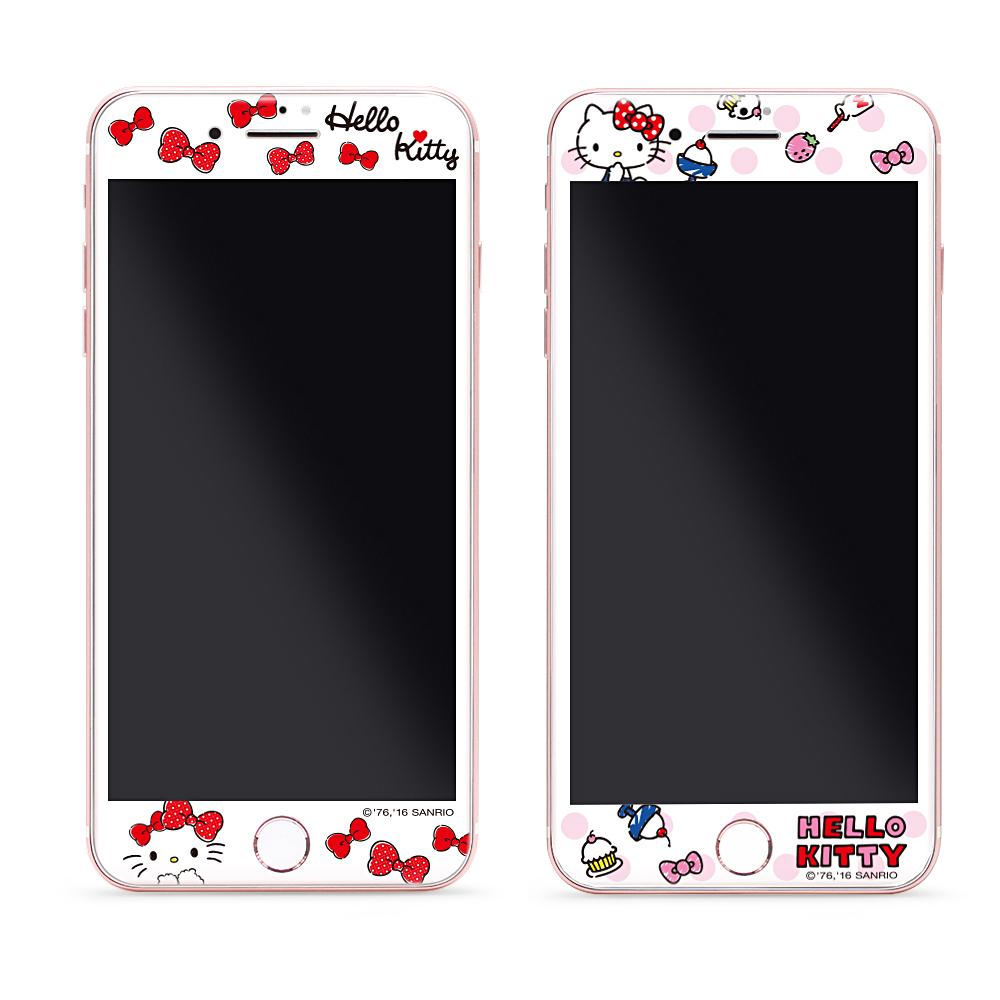 GARMMA Hello Kitty iPhone 7/8 滿版鋼化玻璃膜-派對系列