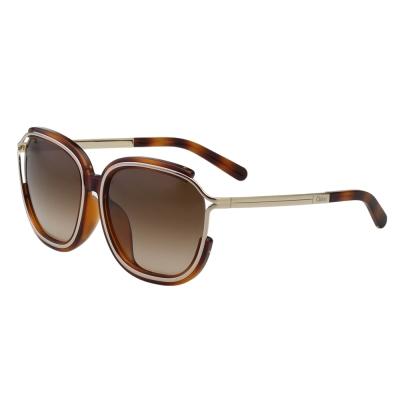 CHLOE太陽眼鏡 方框 經典款(琥珀色)CE694SA-214