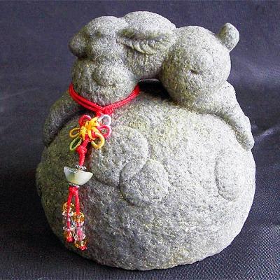 開運陶源  石塑造十二生肖【兔】青斗石*限量888