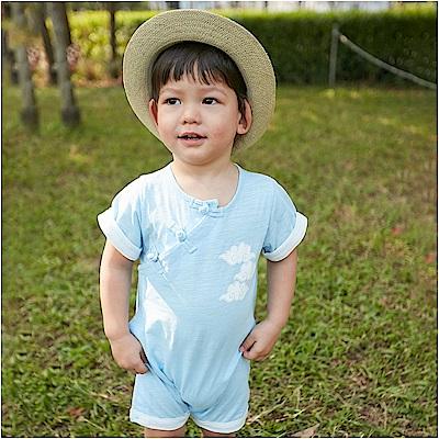 baby童衣 側開扣中國風連身衣 80093