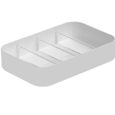 【創意達人】白事達2號方形抽屜收納盒(附隔板)6入