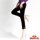 BRAPPERS 女款 新美腳Royal系列-中腰彈性鑲鑽窄管褲-黑