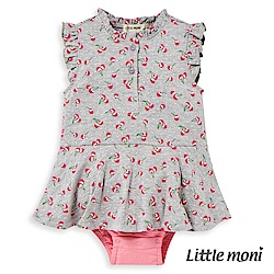 Little moni 甜美荷葉袖包屁衣 (2色可選)