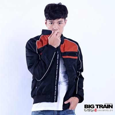BIG TRAIN 騎士型保暖外套-男-黑色
