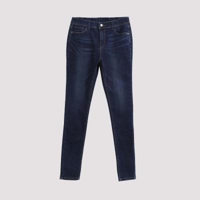 Hang Ten - 女裝 - 仿舊刷色彈性牛仔褲 - 深藍