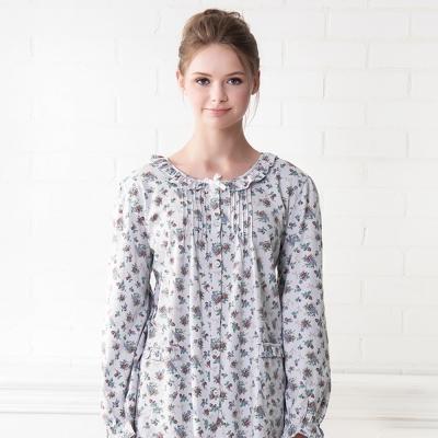 羅絲美睡衣 - 青春旋律長袖褲裝睡衣(灰藍色)