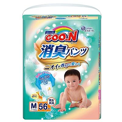 GOO.N日本大王境內版消臭香香褲 褲型紙尿褲(M)56片/包